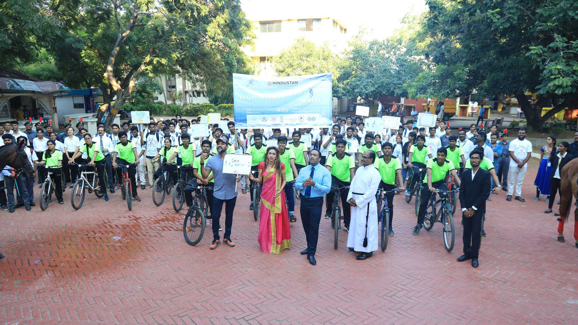 Walk for water and H2Omovent event Hindustan Institute of Technology and Science Nadu