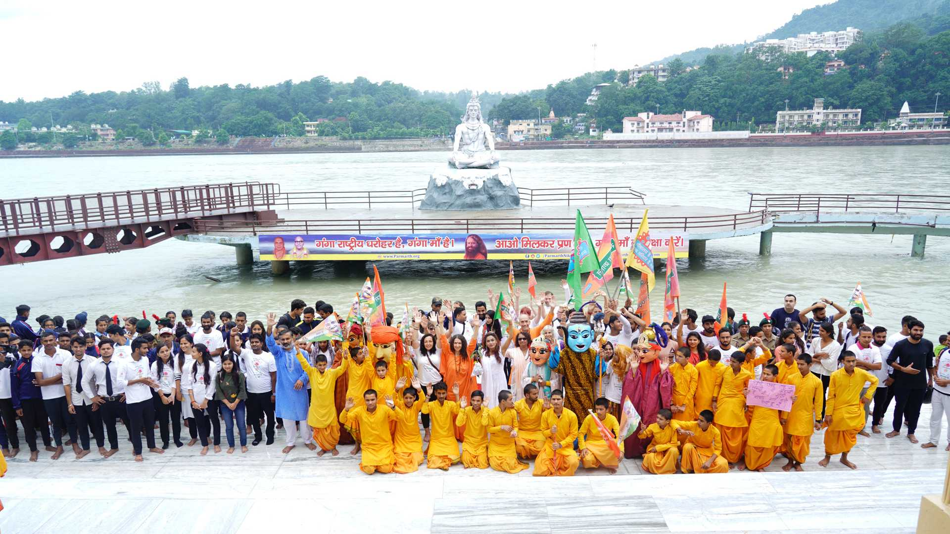 Walk for water event with Parmarth Ashram in Rishikesh Uttrakhand