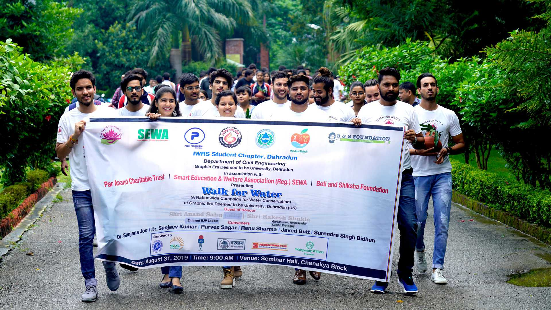 Walk for water inGraphic Era Deemed to be University Dehradun, Uttarakhand